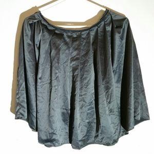 Old Navy grey satin full softly pleated skirt